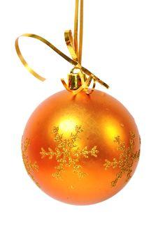 Free Christmas Ball Over White Stock Photo - 15647260