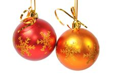 Free Christmas Ball Over White Royalty Free Stock Photography - 15647277