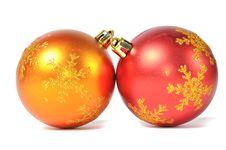 Free Christmas Ball Over White Royalty Free Stock Photos - 15647328