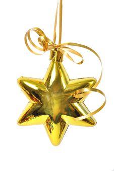 Free Christmas Ball Over White Royalty Free Stock Photo - 15647575