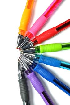 Free Assortment Of Colored Ball-pen Stock Photography - 15647712