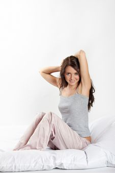 Free Smiling Woman In Bed Royalty Free Stock Photo - 15648535