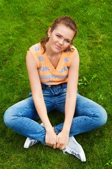 Free Pretty Teen In Casual Clothes Stock Images - 15648984