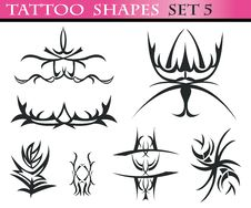 Tattoo Shapes Set 5 Stock Image