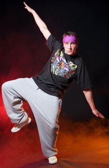 Free Hip Hop Dancer In Dance Stock Image - 15649151