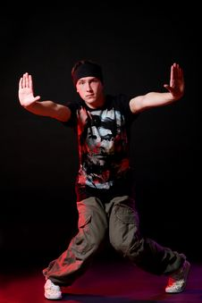 Free Hip Hop Dancer In Dance Royalty Free Stock Photography - 15649177