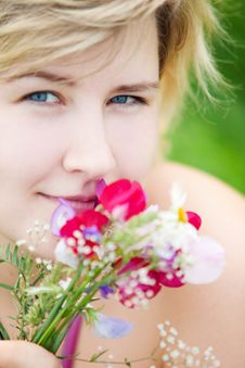 Free Girl On A Meadow Stock Photography - 15649192