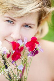 Free Girl On A Meadow Stock Photos - 15649213