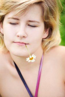 Free Girl On A Meadow Stock Photos - 15649223