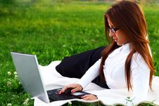 Free Young And Beautiful Girl Doing Home Work Stock Photos - 15649383