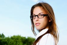 Free Young And Beautiful Girl Doing Home Work Royalty Free Stock Photo - 15649385