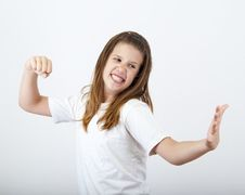 Angry Teenage Girl Stock Images