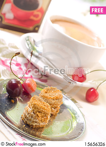 Free Cakes And Coffee Royalty Free Stock Image - 15656326