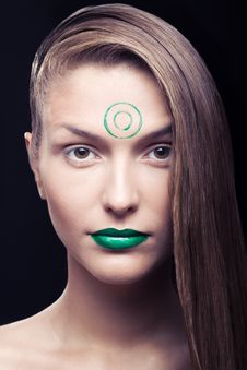 Free Green Lips Stock Photography - 15650472