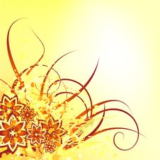 Free Yellow Flower Design Royalty Free Stock Image - 15650996