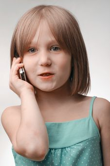 Free Girl Calls Stock Image - 15655331