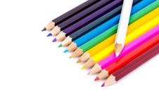 Free Colorful Pencils Royalty Free Stock Photo - 15655395