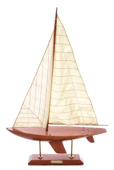 Wooden Sailing Boat Ornament Stock Images