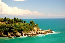 Cliff In Ulcinj, Montenegro Royalty Free Stock Images