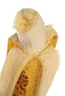 Free Half Eaten Banana Royalty Free Stock Image - 15655766