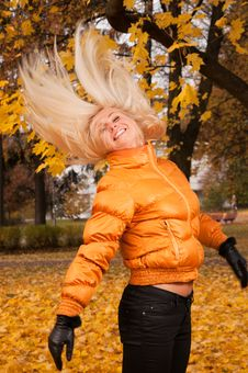 Beautiful Young Woman Outdoors Royalty Free Stock Photos