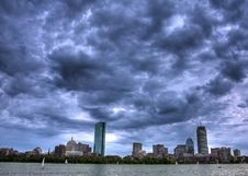 Free Boston Skyline Royalty Free Stock Photography - 15655977
