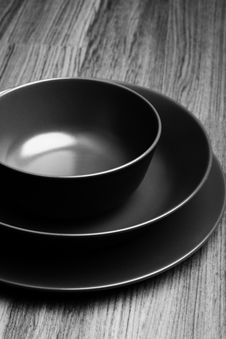 Free Round Plates Stock Images - 15657154