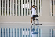 Free Exercise At Poolside Stock Photography - 15658252