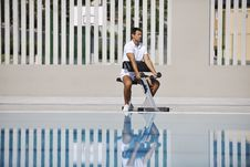 Free Young Man Exercise At Poolside Stock Photo - 15658410