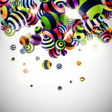 Free Background With Colorful Balls Royalty Free Stock Photos - 15658628