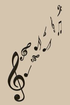 Free Music Notes Stock Photography - 15659222