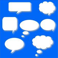 Free Talk Bubbles Royalty Free Stock Photo - 15659295