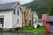 Free Traditional Wooden Houses In Lyrdal, Norway Royalty Free Stock Photo - 15659385