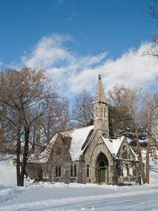 Free Church And Winter Day Stock Photo - 15659400