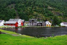 Free Traditional Wooden Houses In Lyrdal, Norway Stock Photo - 15659450