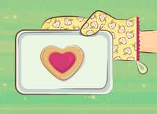 Love Cookie Royalty Free Stock Images