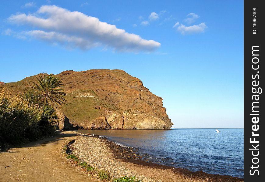 Destination scenic - beach and cliff