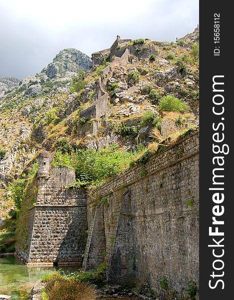 defevsive walls of kotor montenegro free stock images photos