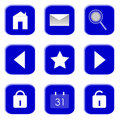 Free Icons For Website And Internet (Blue 1) Royalty Free Stock Photo - 15662875