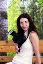 Free Girl Photographer Stock Photography - 15666832