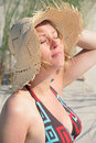 Free Pregnant Woman On The Beach Royalty Free Stock Image - 15668086