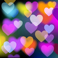 Free Colorful Background With Hearts. Vector Stock Photography - 15669942