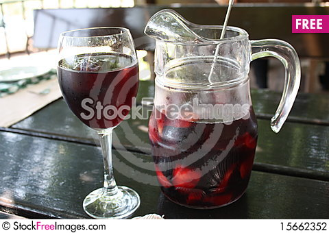 Free Sangria Lunch Stock Photography - 15662352