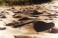 Sand And Beautiful Shades On It Royalty Free Stock Photos
