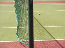 Close-up Of Tennis Net And Court Royalty Free Stock Photo