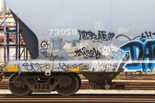 Free Graffiti On Side Of Railroad Car Stock Images - 15660484