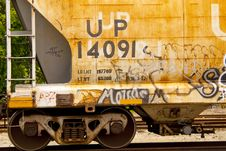 Free Old Railroad Car With Graffiti Royalty Free Stock Images - 15660499