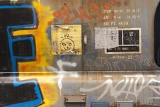 Free Graffiti  Painted On Railroad Car Royalty Free Stock Photography - 15660507