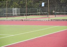 Free Tennis Courts In Sports Center Royalty Free Stock Photography - 15660537