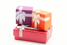 Free Three Gift Boxes Stock Photography - 15660732